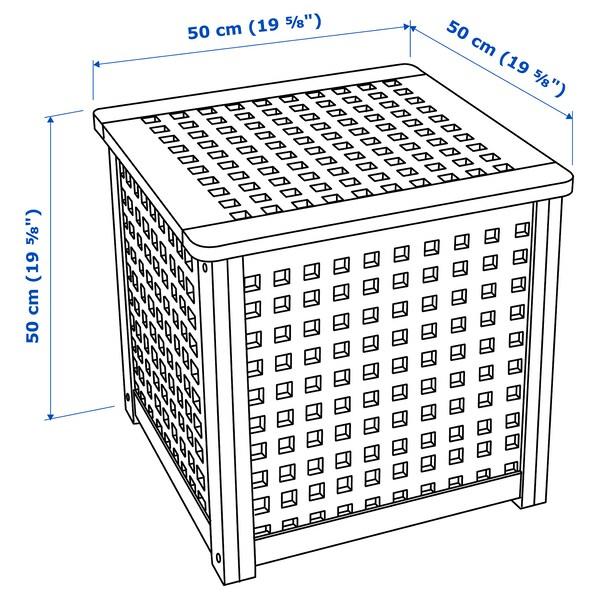HOL Príručný stolík, akácia, 50x50 cm