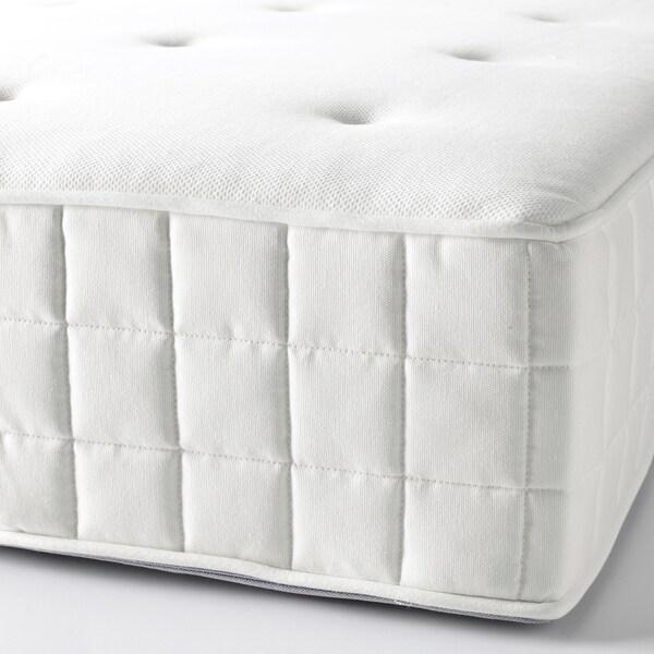 HYLLESTAD matrac s kapsulovými pružinami tvrdý/biela 200 cm 80 cm 27 cm