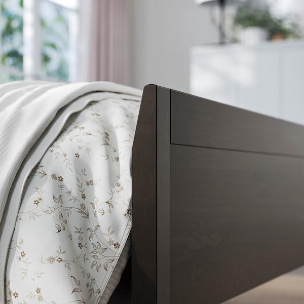 IDANÄS Rám postele, tmavohnedá/Leirsund, 160x200 cm