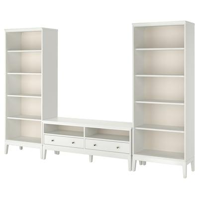 IDANÄS TV úložná kombinácia, biela, 325x40x211 cm
