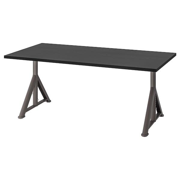 IDÅSEN Stôl, čierna/tmavosivá, 160x80 cm