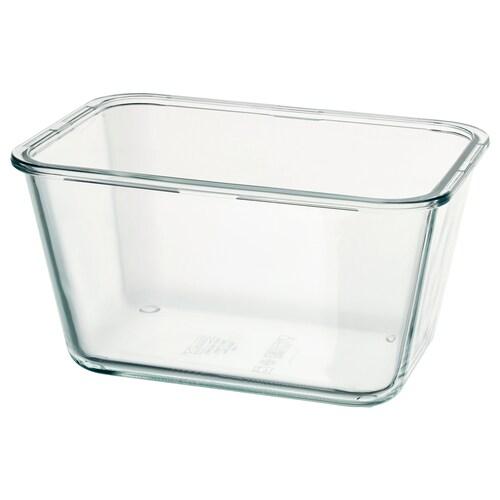 IKEA 365+ dóza na potraviny obdĺžnik/sklo 21 cm 15 cm 11 cm 1.8 l