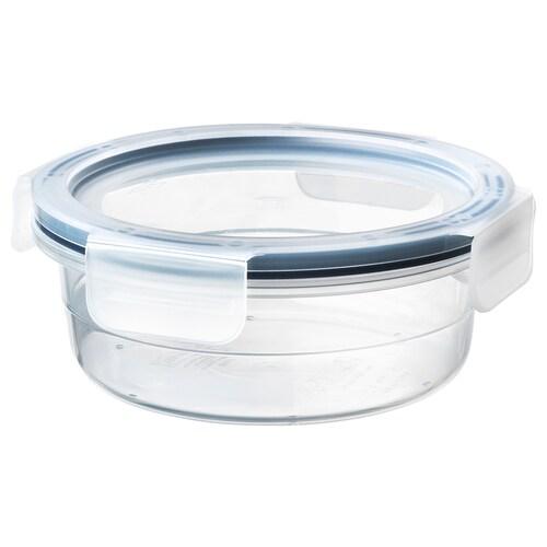 IKEA 365+ dóza na potraviny s vrchnákom okrúhly/plast 6 cm 14 cm 450 ml
