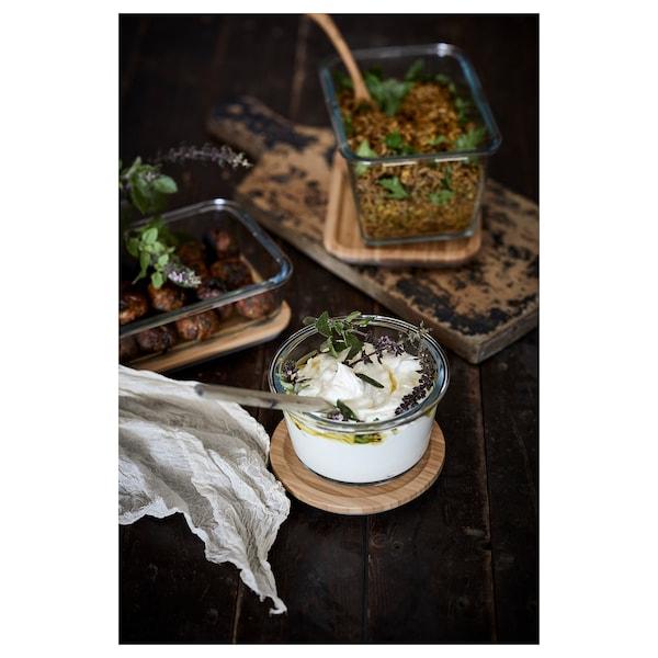 IKEA 365+ dóza na potraviny okrúhly/sklo 8 cm 14 cm 600 ml