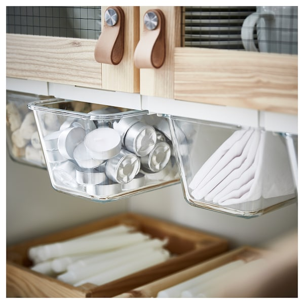 IKEA 365+ Dóza na potraviny, obdĺžnik/sklo, 1.8 l