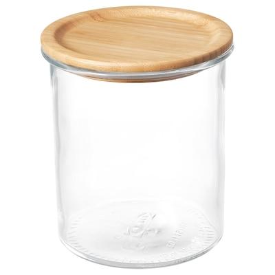 IKEA 365+ Dóza s vrchnákom, sklo/bambus, 1.7 l