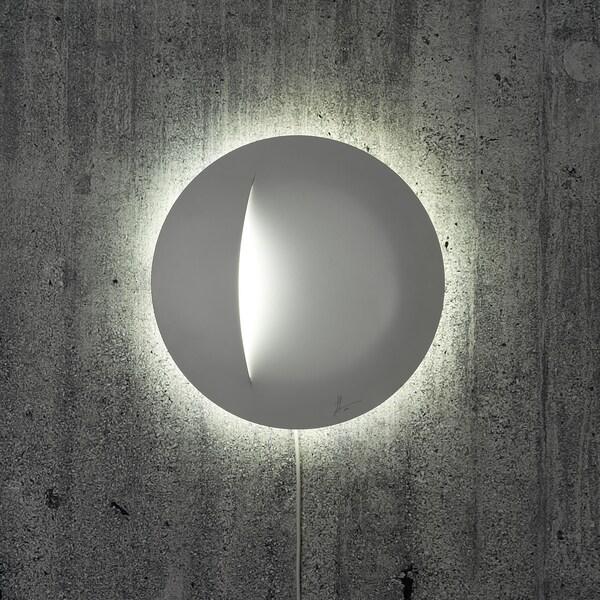 IKEA ART EVENT 2021 LED nástenná  lampa, biela, 30 cm