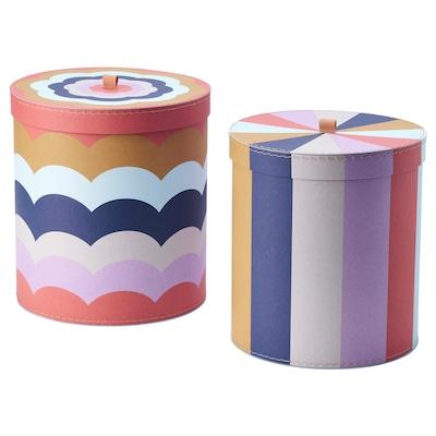 ILLBATTING dekoratívna škatuľka, 2 ks viacfarebný 2 ks