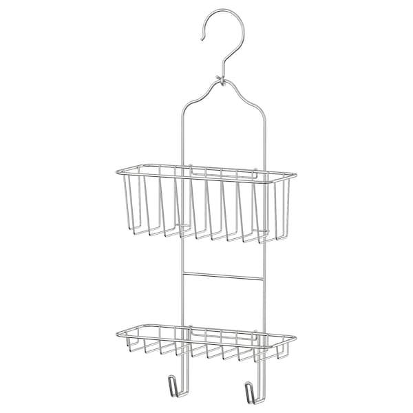 IMMELN Vešiak do sprchy, dva rady, pozinkované prevedenie, 24x53 cm