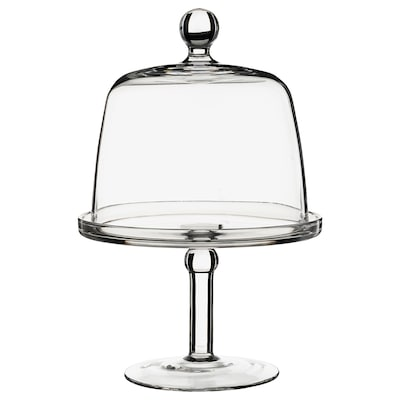 INBJUDEN Servírovací stojan s vrchnákom, číre sklo, 19 cm