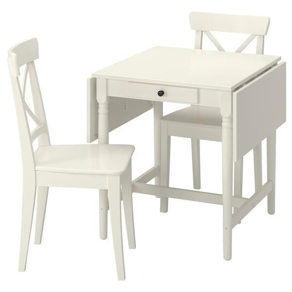 INGATORP / INGOLF Stôl a 2 stoličky, biela/biela