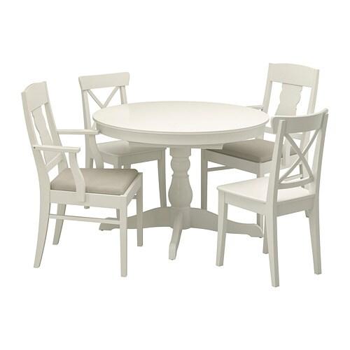 f8d5d618a0e20 INGATORP / INGOLF Stôl a 4 stoličky IKEA Jedálenský stôl s 1 výsuvnou  doskou pre 4