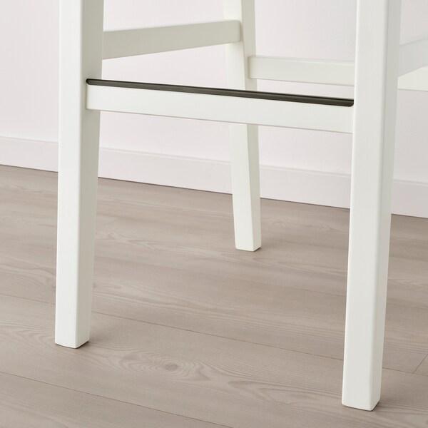 INGOLF Barová stolička, biela/Hallarp béžová, 75 cm