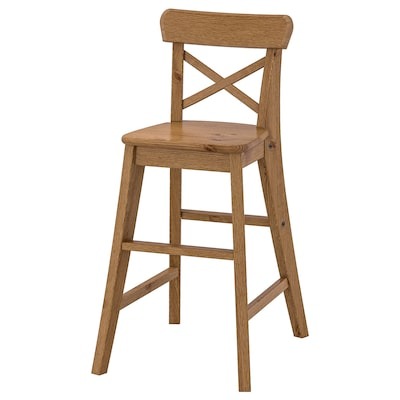 INGOLF Detská vysoká stolička, antikové moridlo