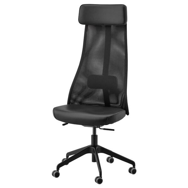 JÄRVFJÄLLET Kancelárska stolička, Glose čierna