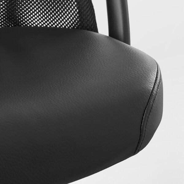 JÄRVFJÄLLET Kancelárska stolička s opierkami, Glose čierna