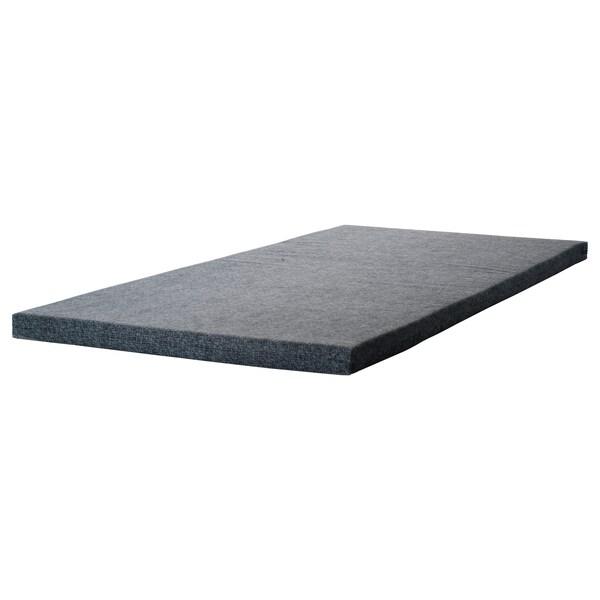 JAREN matrac z polyuretánovej peny sivá 200 cm 90 cm 6 cm