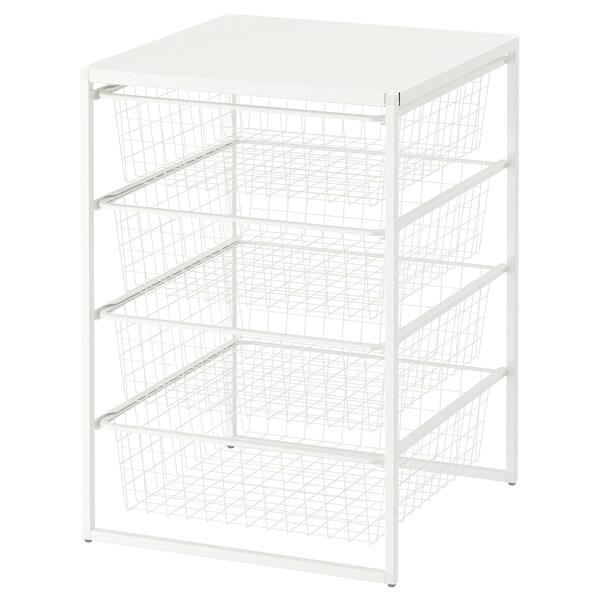 JONAXEL Rám/dr kôše/vrchná polica, biela, 50x51x70 cm