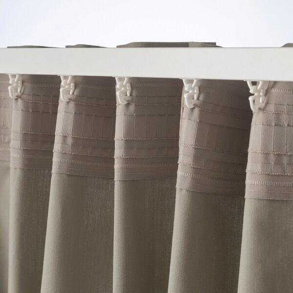 KALKFLY zatemňovacie závesy, 1 pár tmavá béžová 300 cm 145 cm 1.82 kg 4.35 m² 2 ks