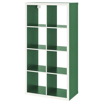 KALLAX policový diel biela/zelená 77 cm 39 cm 147 cm 13 kg