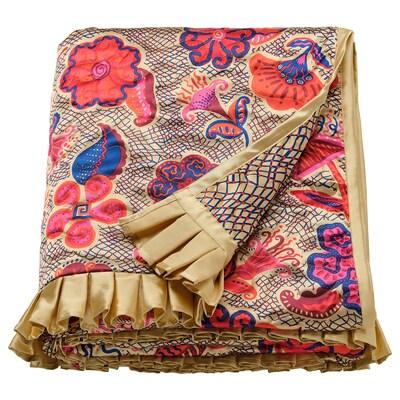 KARISMATISK Deka, kvetinové vzory béžová, 150x200 cm