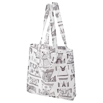 KARISMATISK Nákupná taška, biela/čierna, 15 l