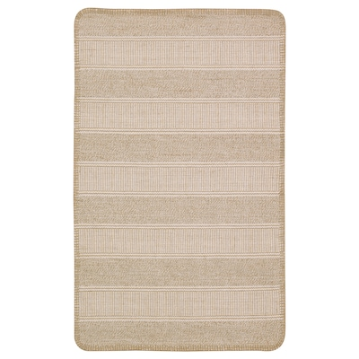 KLEJS koberec, hladko tkaný béžová/biela 80 cm 50 cm 3 mm 0.40 m² 756 g/m²