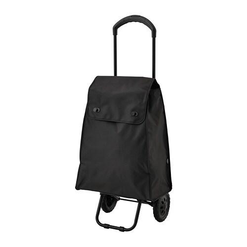 82150d6f42aeb KNALLA Nákupná taška s kolieskami - čierna - IKEA
