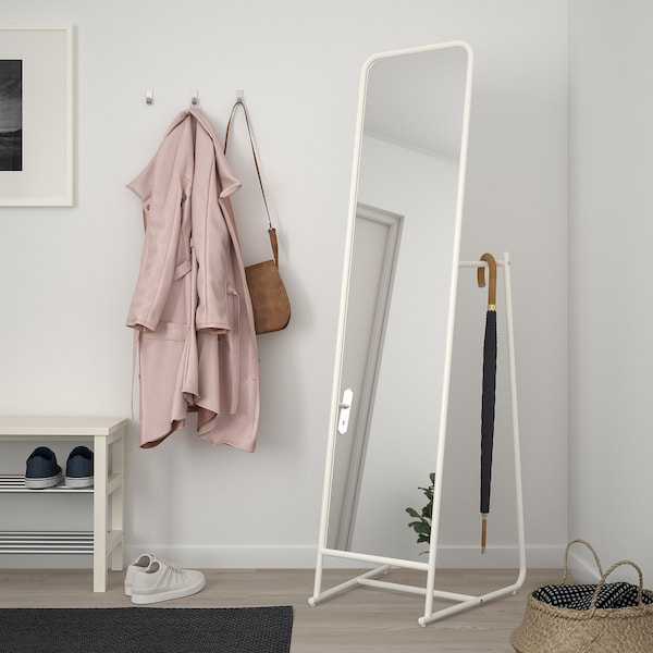KNAPPER stojacie zrkadlo biela 48 cm 160 cm 53 cm 39 cm