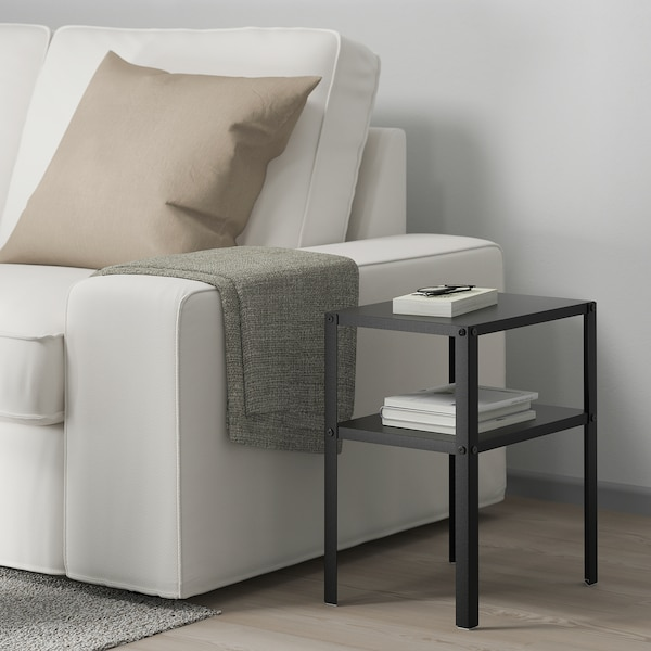 KNARREVIK nočný stolík čierna 37 cm 28 cm 45 cm