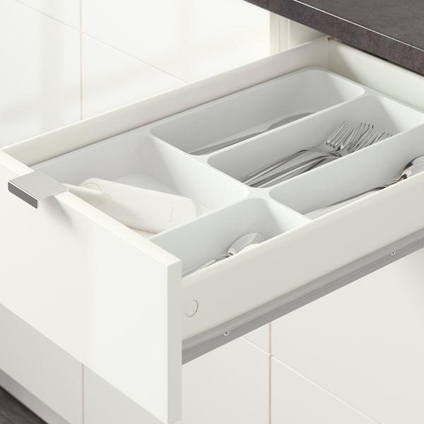 KNOXHULT Kuchyňa, lesklá biela, 120x61x220 cm