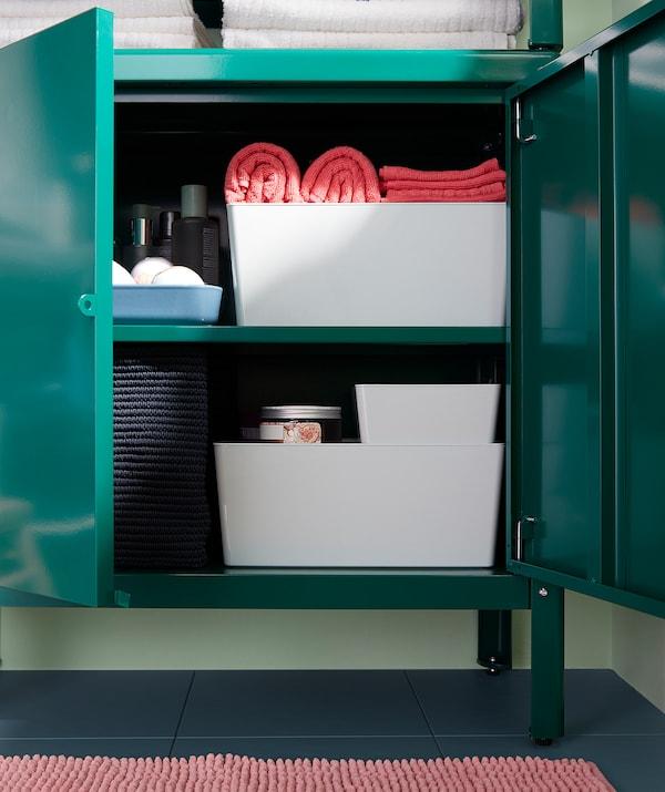 KOLBJÖRN Skrinka interier/exterier zelená 80 cm 35 cm 81 cm