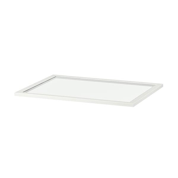 KOMPLEMENT sklenená polica biela 71.1 cm 75 cm 57.3 cm 58 cm 1.8 cm 8 kg