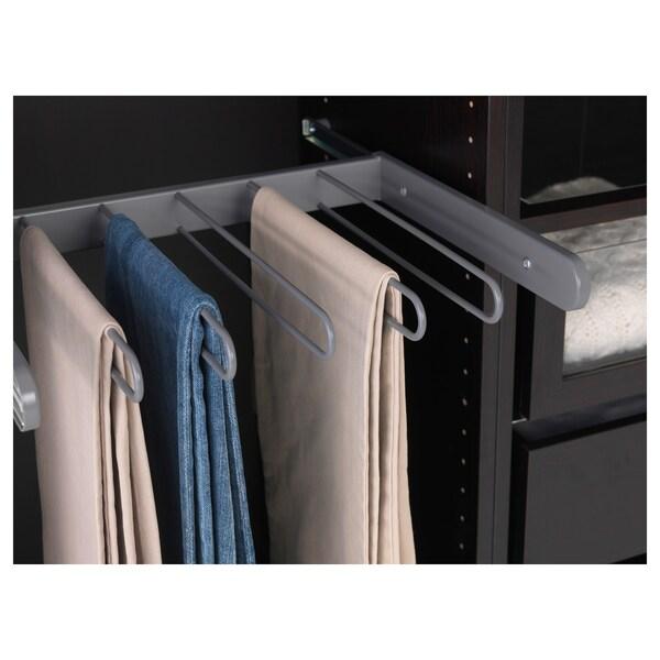 KOMPLEMENT vyťahovací vešiak na nohavice tmavosivá 43.1 cm 50 cm 34.4 cm 4.5 cm 35 cm 8 kg