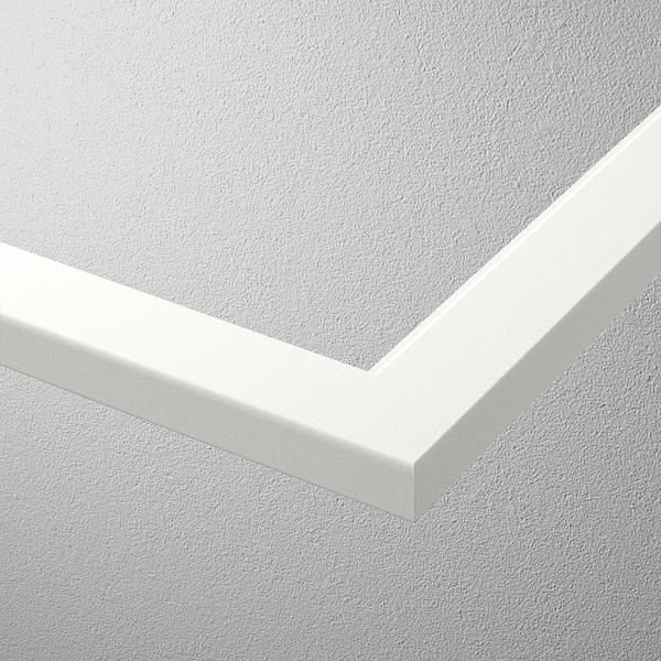 KOMPLEMENT Sklenená polica, biela, 100x35 cm