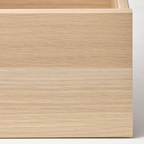KOMPLEMENT Zásuvka, bielo morený dub vzor, 50x58 cm