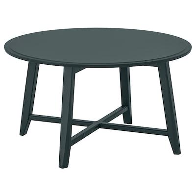 KRAGSTA Konferenčný stolík, tmavomodrozelená, 90 cm