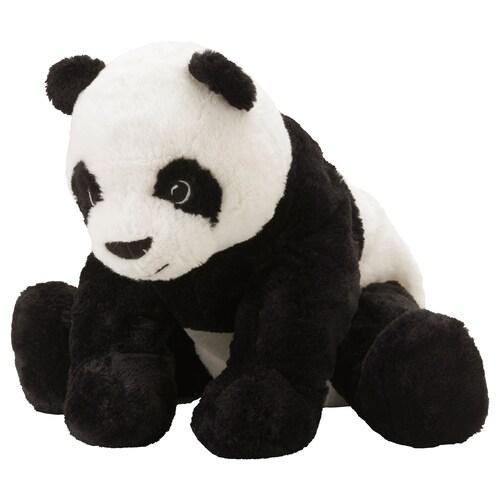 KRAMIG plyšová hračka biela/čierna 30 cm