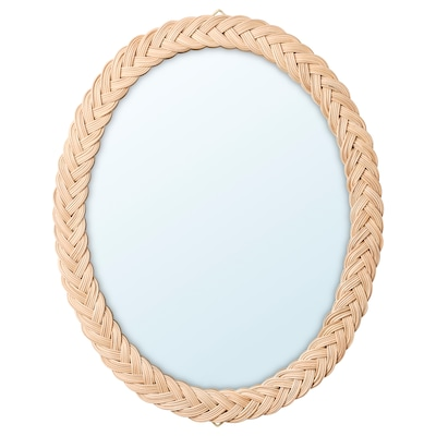 KRISTINELUND Zrkadlo, ratan, 61x50 cm