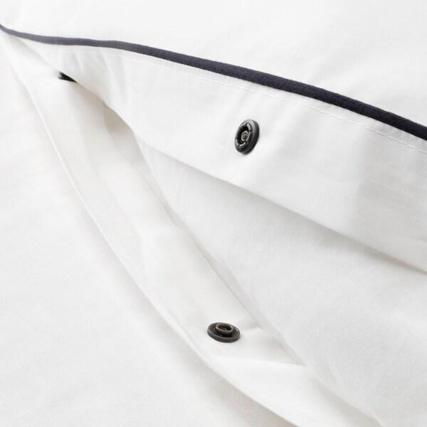 KUNGSBLOMMA Posteľná bielizeň, biela/sivá, 150x200/50x60 cm