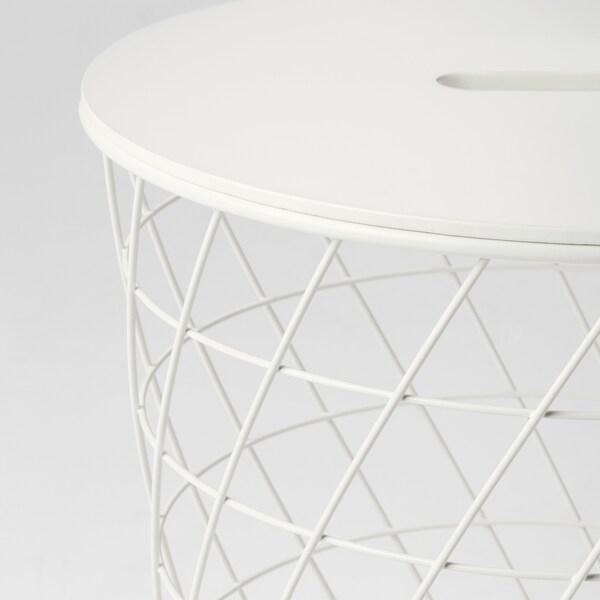 KVISTBRO stolík s úložným priestorom biela 42 cm 44 cm
