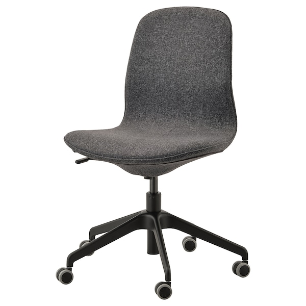 LÅNGFJÄLL Kancelárska stolička, Gunnared tmavosivá/čierna