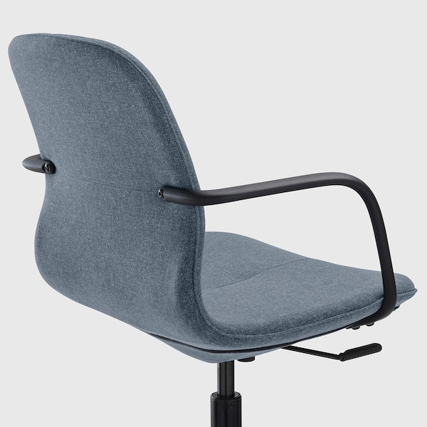 LÅNGFJÄLL Kancelárska stolička s opierkami, Gunnared modrá/čierna