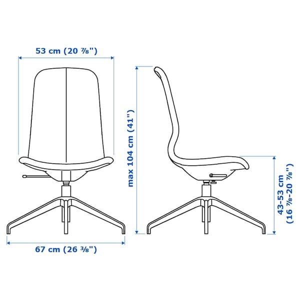 LÅNGFJÄLL Konferenčná stolička, Gunnared modrá/čierna