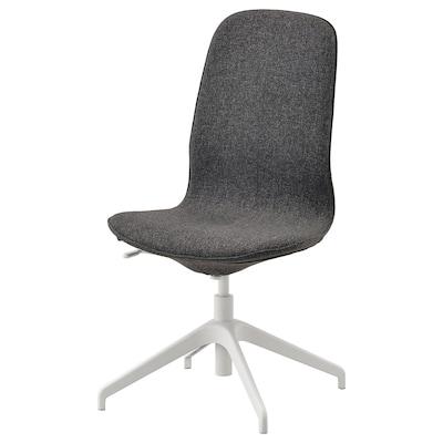 LÅNGFJÄLL Konferenčná stolička, Gunnared tmavosivá/biela