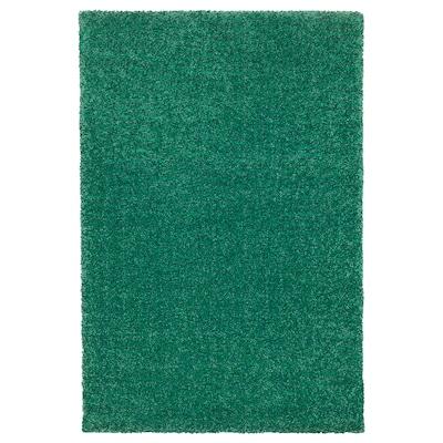 LANGSTED koberec, nízky vlas zelená 90 cm 60 cm 13 mm 0.54 m² 2500 g/m² 1030 g/m² 9 mm
