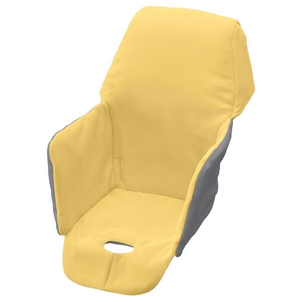 LANGUR Čalúnená podložka na vys. stoličku, žltá