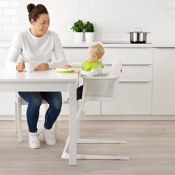 LANGUR Detská vysoká stolička s podnosom, biela