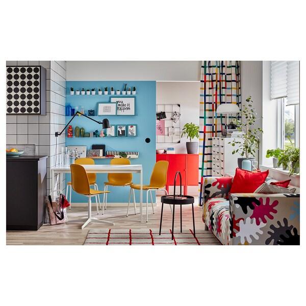 LEIFARNE Otočná stolička, żltá/Balsberget biela