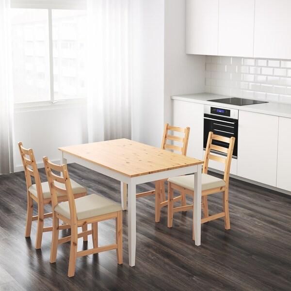 LERHAMN stôl svetlé moridlo, patina/bielo morené  118 cm 74 cm 75 cm